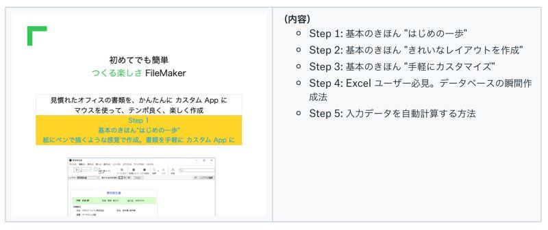初めてでも簡単- つくる楽しさ FileMaker