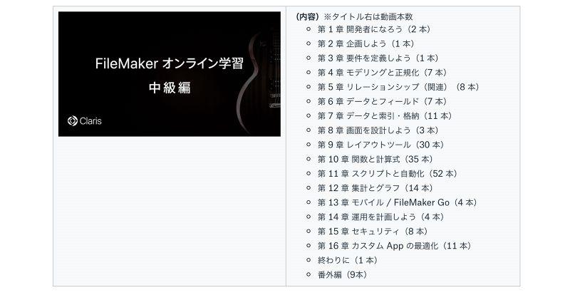 FileMaker オンライン学習 中級編