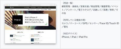 モバイルデバイス用カスタム App
